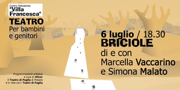 """Il Teatro a """"Villa Francesca"""": si parte a luglio con BRICIOLE"""