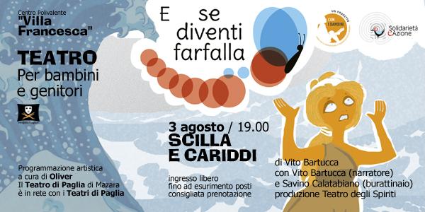 """Il Teatro a """"Villa Francesca"""": SCILLA E CARIDDI"""